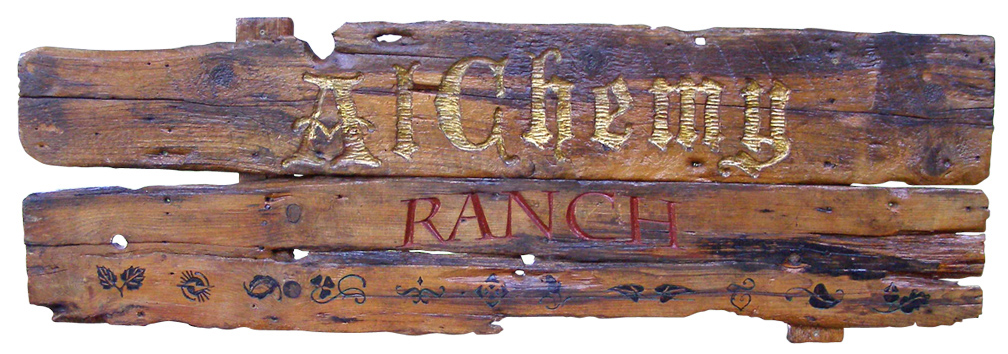 AlChemy Ranch Sign